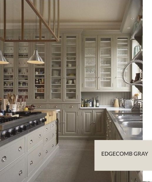 I Like This Cabinet Color Maybe A Tad Dark Though Bm Edgecomb Gray Grey Kitchen Designs Kitchen Inspirations Kitchen Remodel