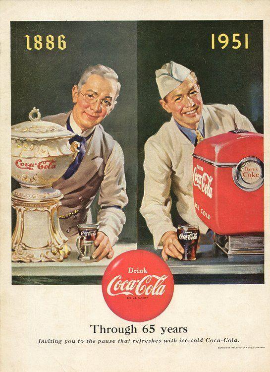 bd0f41ec57dfd 1886 - 1951 Coca Cola Poster
