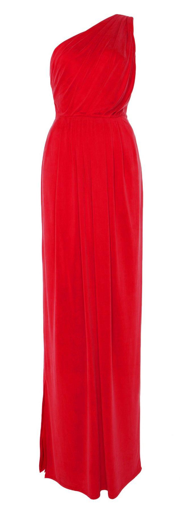 Temperley london red long annabelle jersey dress formal