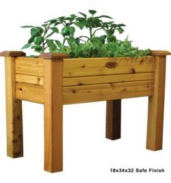 Elevated Garden Bed 18x34x32 Unfinished