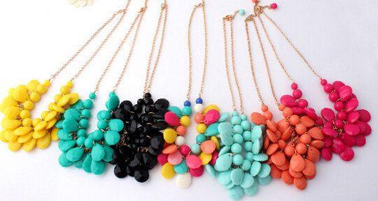 Bib Bubble Necklaces Earrings Sets Mix colors or di AbesRome