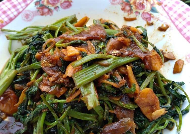 Resep Oseng Kangkung Teri Trasi Mantap Recipe In 2020 Green Beans Vegetables Food