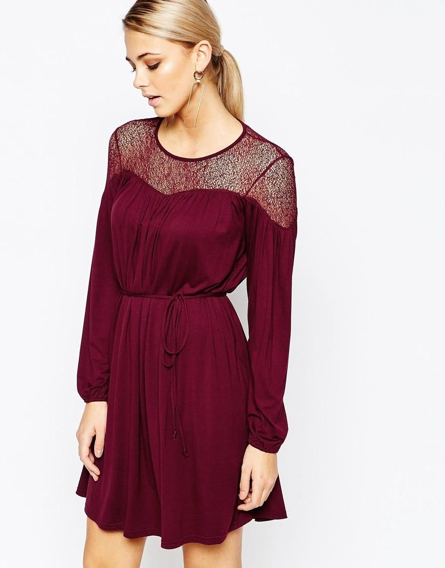 Oasis | Oasis Lace Detail Dress at ASOS