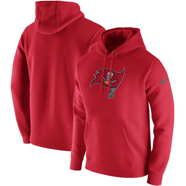 efba8572fd Nike Tampa Bay Buccaneers Red Club Fleece Pullover Hoodie ...