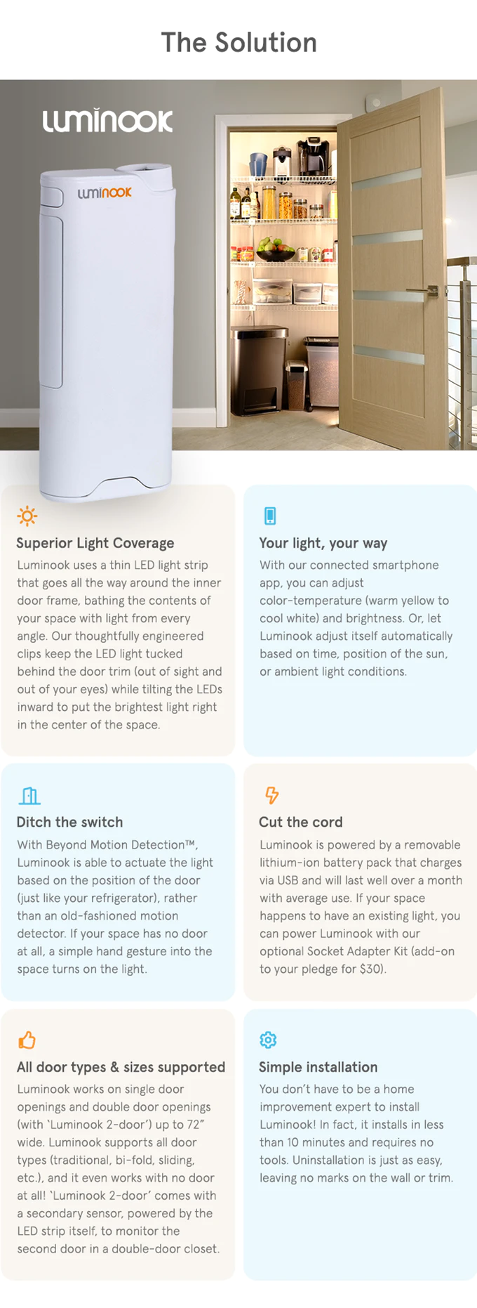 Luminook Big Light For Small Spaces By Luminook Kickstarter In 2020 Small Spaces Single Doors Led Light Strips