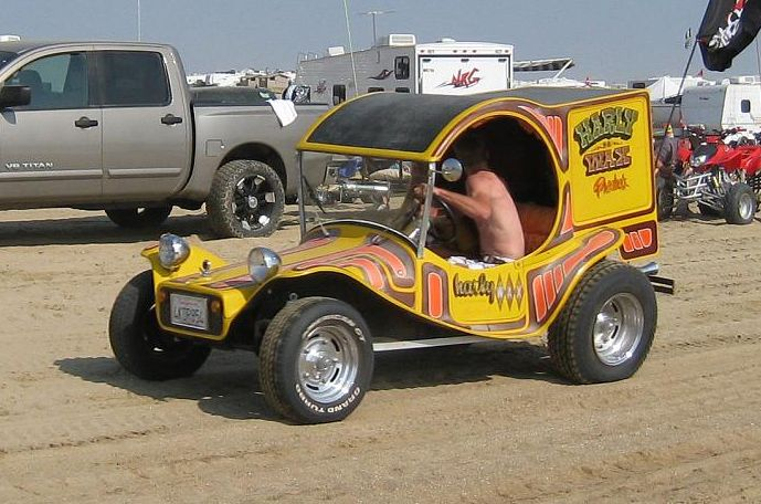 A wild fiberglass mating of a C-cab rear to a toad dune buggy ...