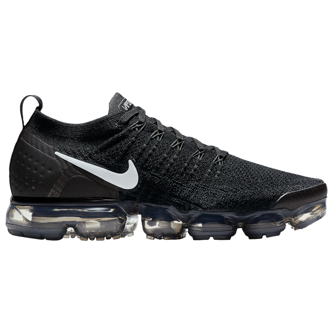 sale retailer 9470e 52513 Nike Air Vapormax Flyknit 2 - Men s - Running - Shoes - Black White Dark  Grey Metallic Silver