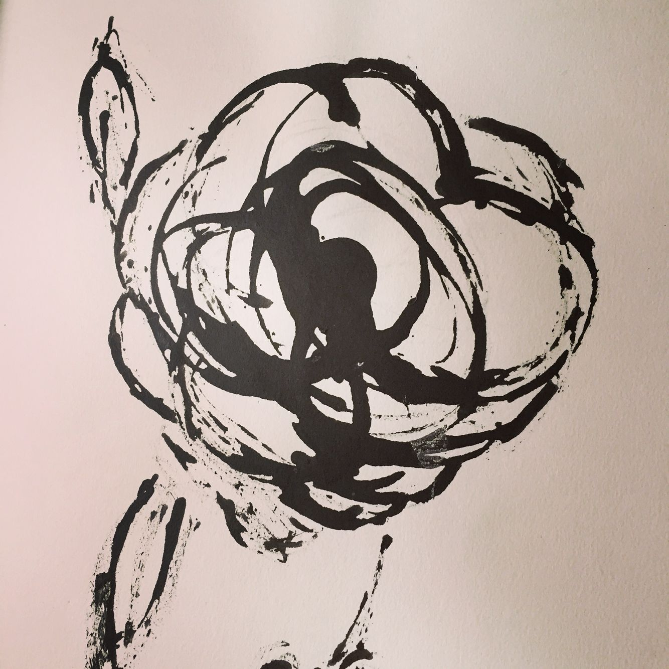 one perfect rose draw with ink a stick my work pinterest rose