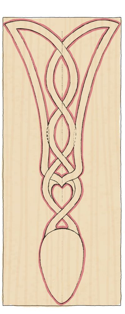 Carve a traditional celtic lovespoon the woodworkers