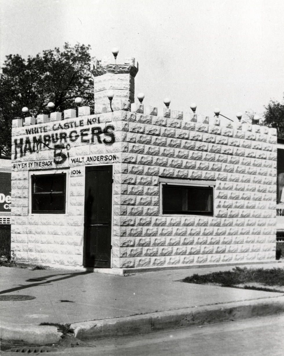 bca12b525411d4 Exterior view of White Castle number 1. Located in Wichita