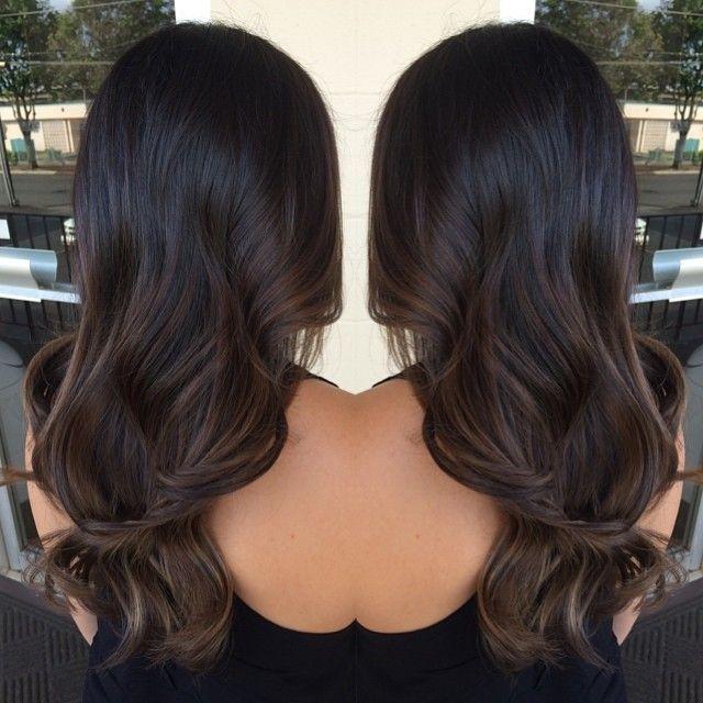 Subtle Balayage Ombre Keannehair Black Hair Balayage