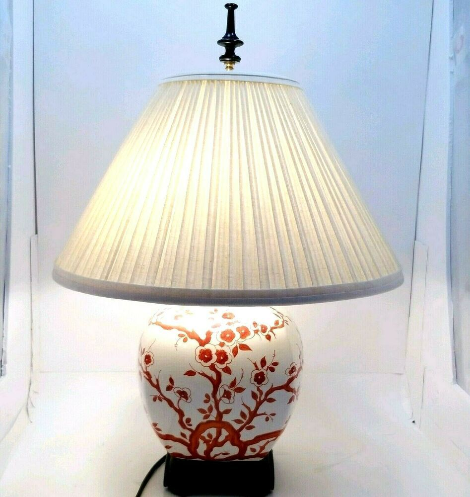 Anese Painted Urn Accent Table Lamp