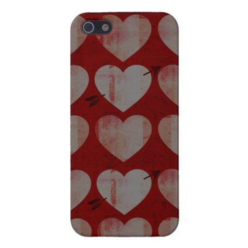 Textured Hearts iPhone Cover iPhone 5 Covers
