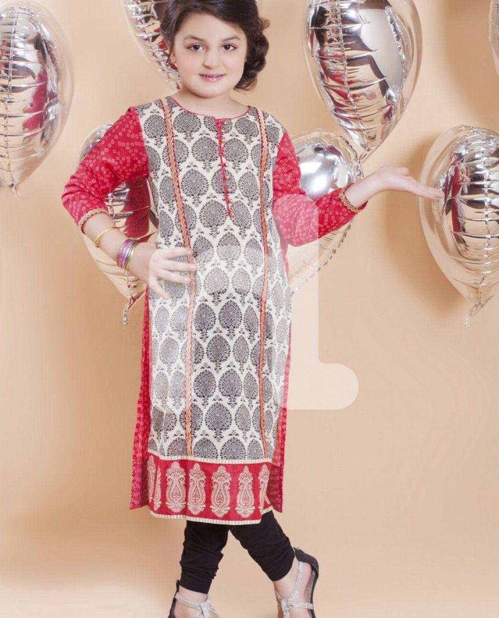 0f2f93c89dfe Nishat Linen Kids Eid Wear Collection 2015 (1) | Shalwar kameez in ...