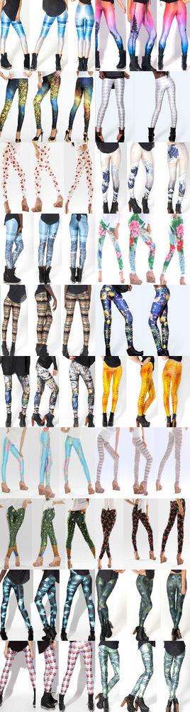 Leggins GALAXY stampato Free size Leggings Space printed pants