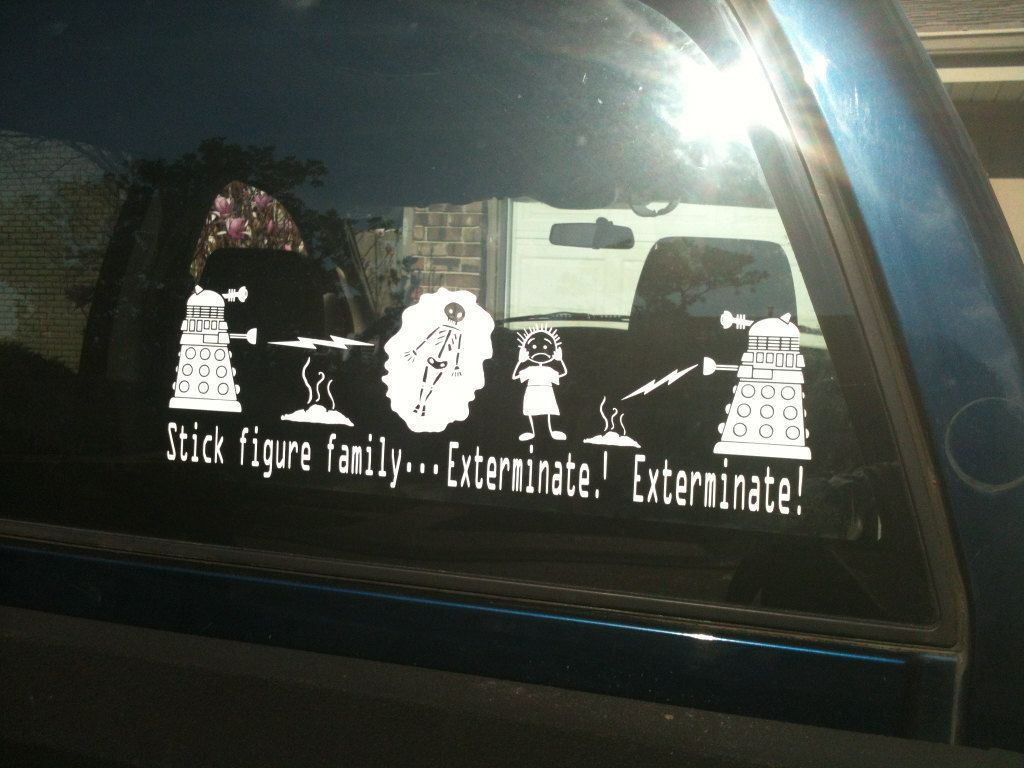 Exterminate Your Sticker Figure Family Dr Whos Dalek Attak - Family decal stickers for carscar truck van vehicle window family figures vinyl decal sticker