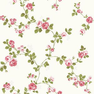 Luxury Shabby Chic Vintage Pink Floral Roses Trail Kitch Style