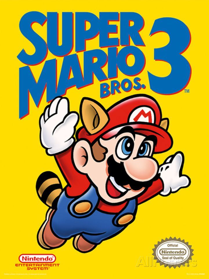 Super Mario Bros 3 Nes Cover Posters Mario Bros Super Mario