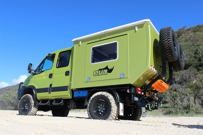 Eva Evolution Pop Top Dual Cab Expedition Vehicle Adventure Campers Bug Out Vehicle