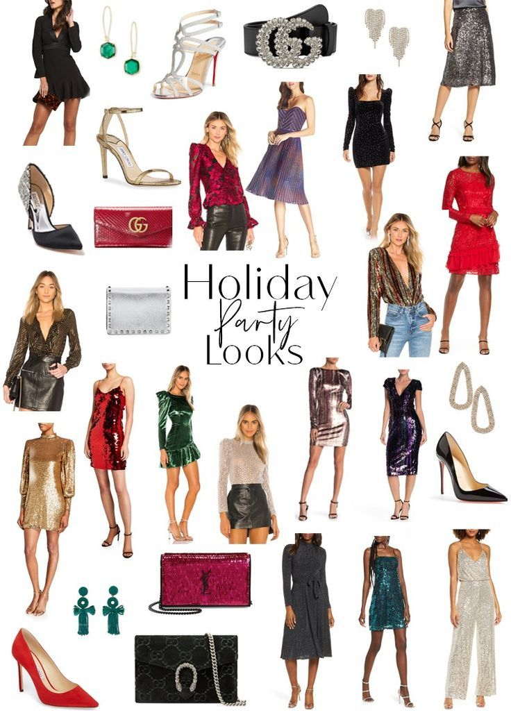 Holiday Party Looks - Style Duplicated holiday looks, NYE looks, party dresses, Christmas party outfit