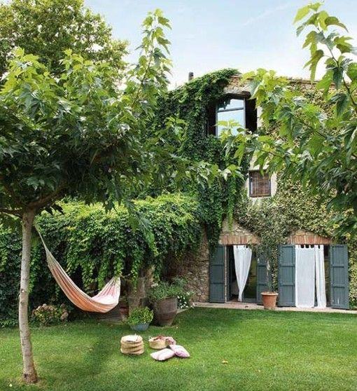Pin de en proyecto nuestra casa casas masia y casas de campo - Jardines de casas de campo ...