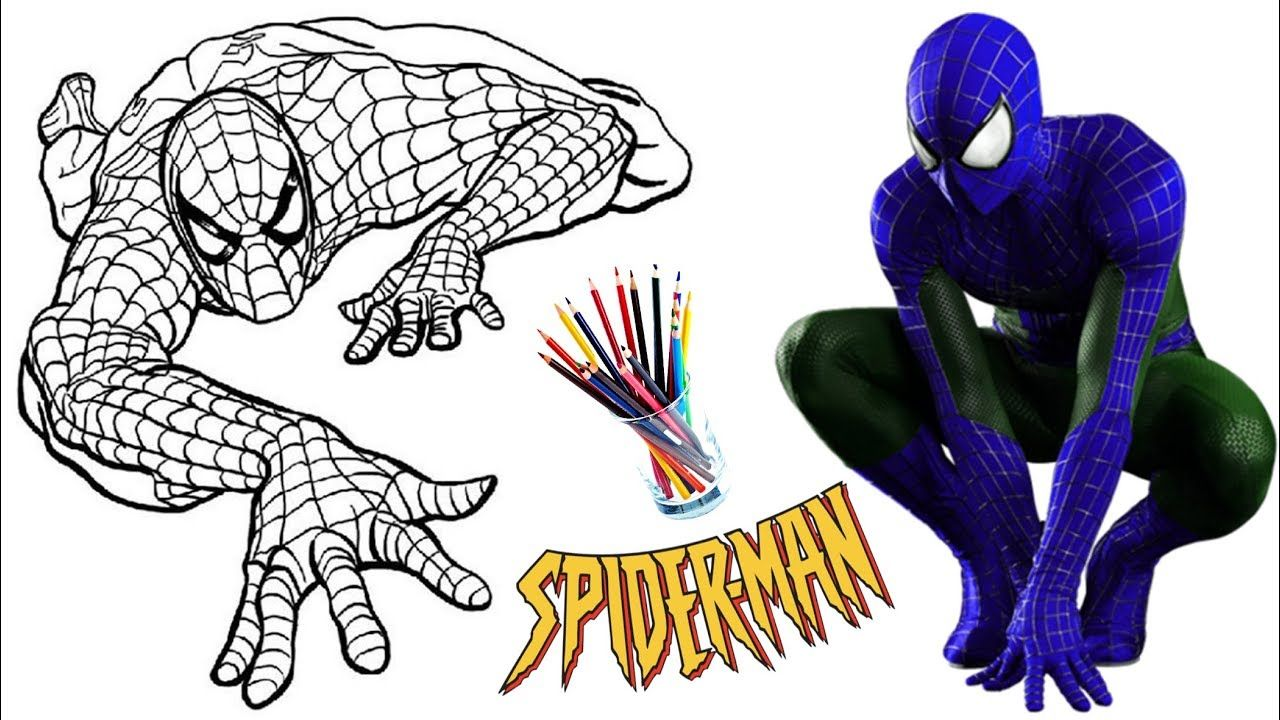 Spiderman Coloring Book For Kids Learn Colors Coloring Pages 3 Spiderman Coloring Coloring Pages Coloring Books