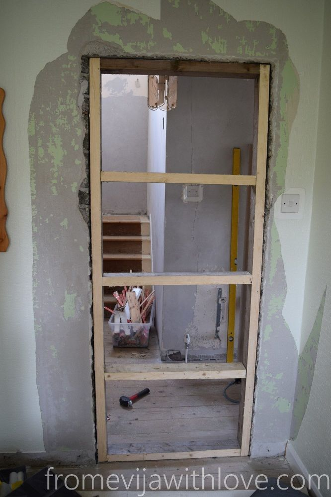 How To Block A Doorway And Turn It Into A Solid Wall Home Repairs Home Improvement Projects Home Improvement