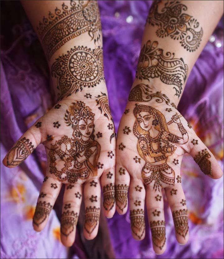 Fall Henna Designs: 10 Radha Krishna Mehndi Design Themes You'll Fall In Love