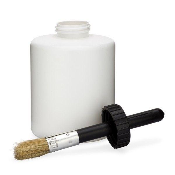 32 Oz White Hdpe Plastic Heavy Duty Cans Brush Cap