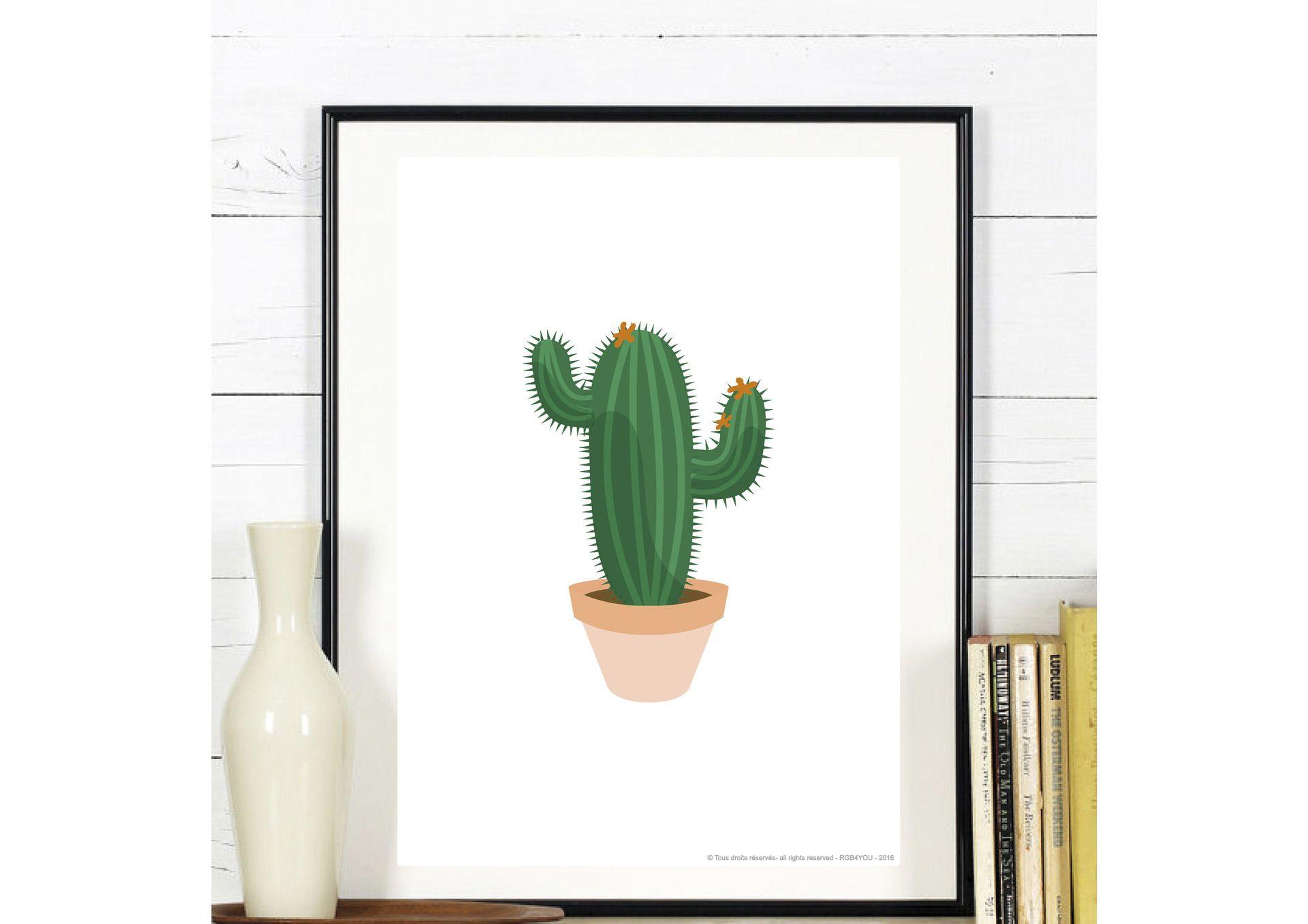 Affiche Cactus - a télécharger et à imprimer : Affiches, illustrations, posters par affiche-rgb4you