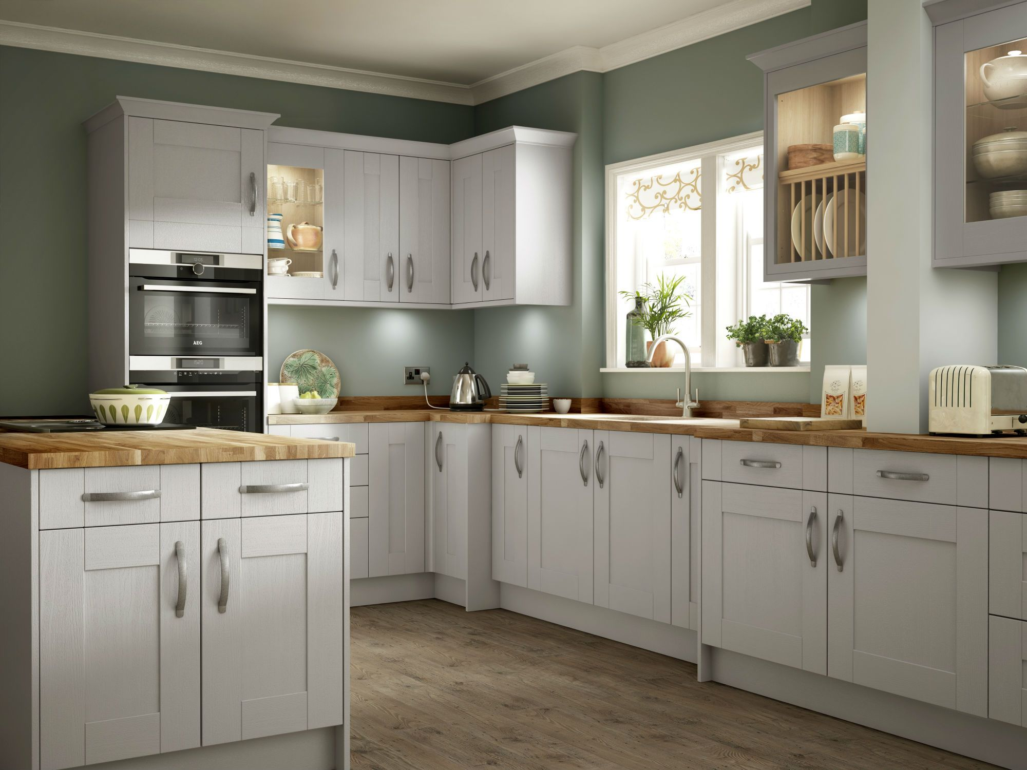 Our Sherwood soft grey doors and drawers combine perfectly