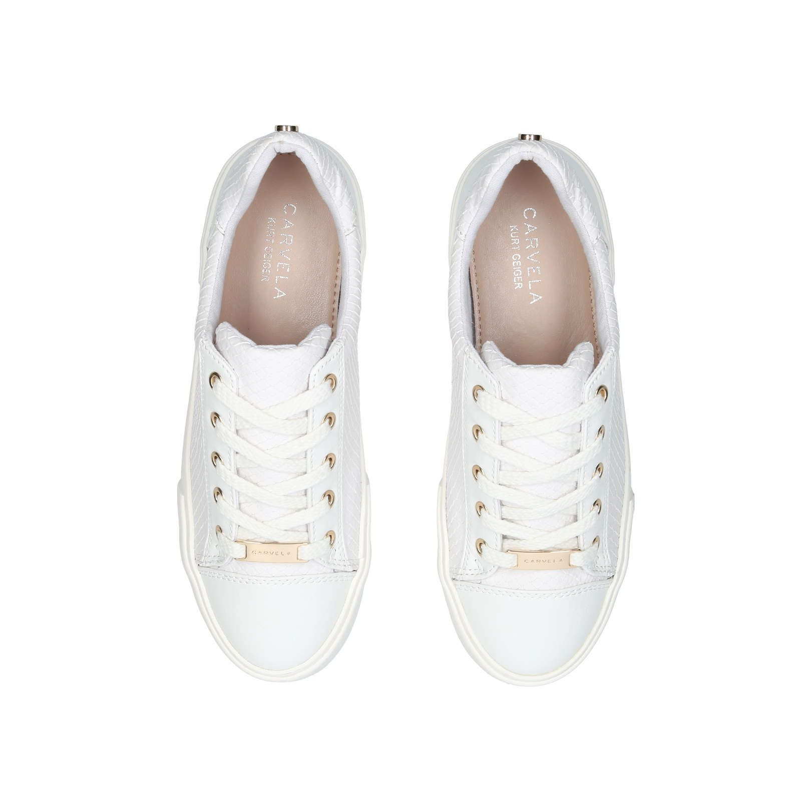 carvela gold trainers cheap online