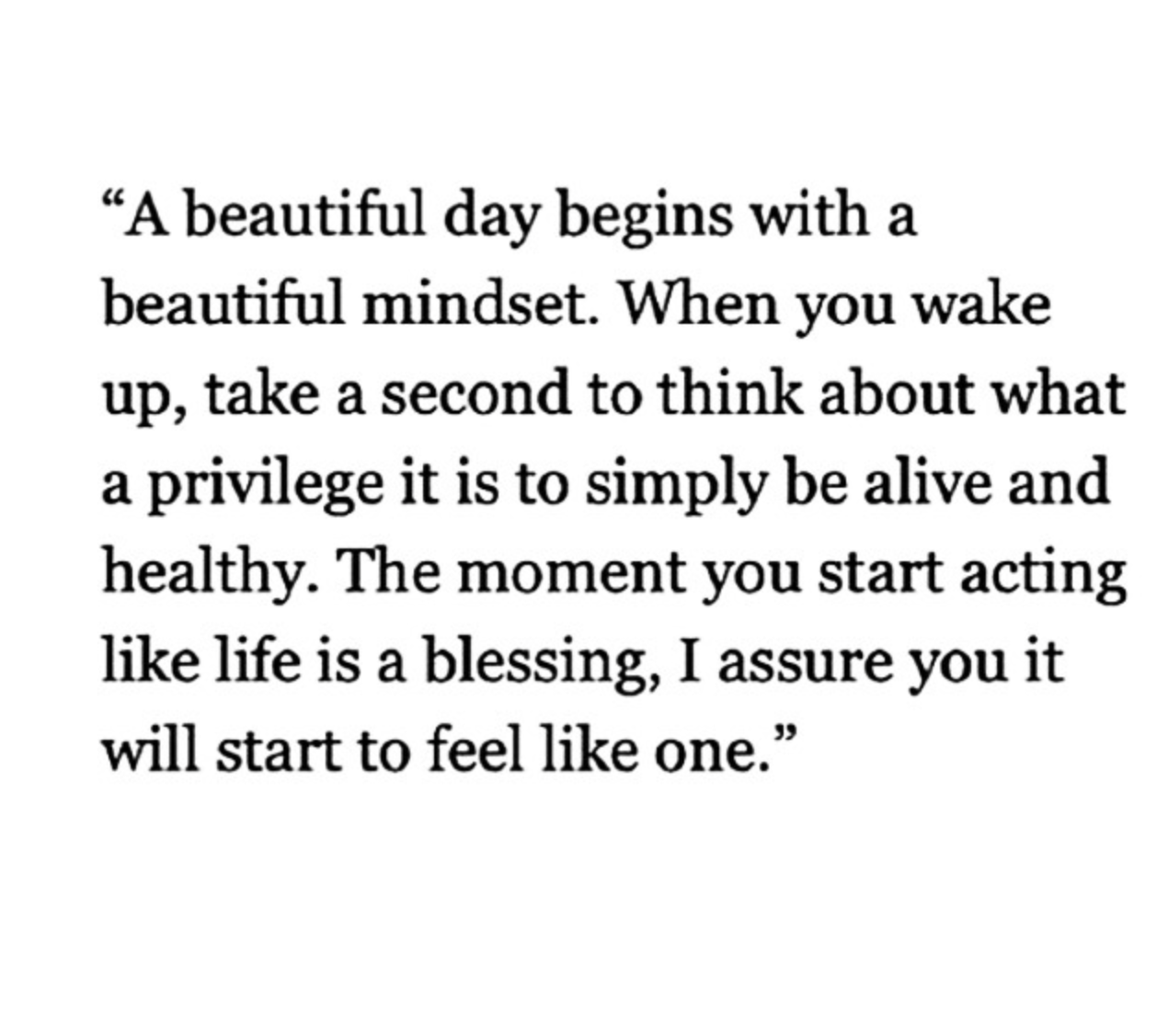 Begin with a beautiful mindset <3