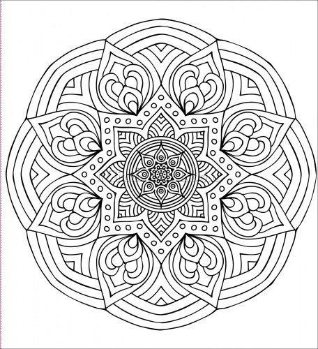 disegni da colorare e stampare dei mandala
