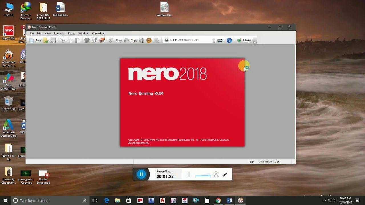 Make Bootable Windows DVD through Nero Platinum 2018