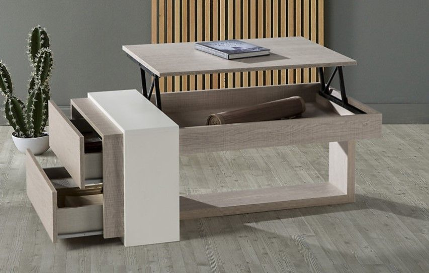 Table basse relevable Garance pas cher - Table Basse Camif ...