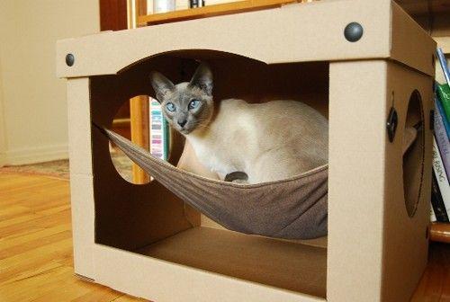 Merveilleux Casa Cama Para Gato Con Hamaca House Cat ...