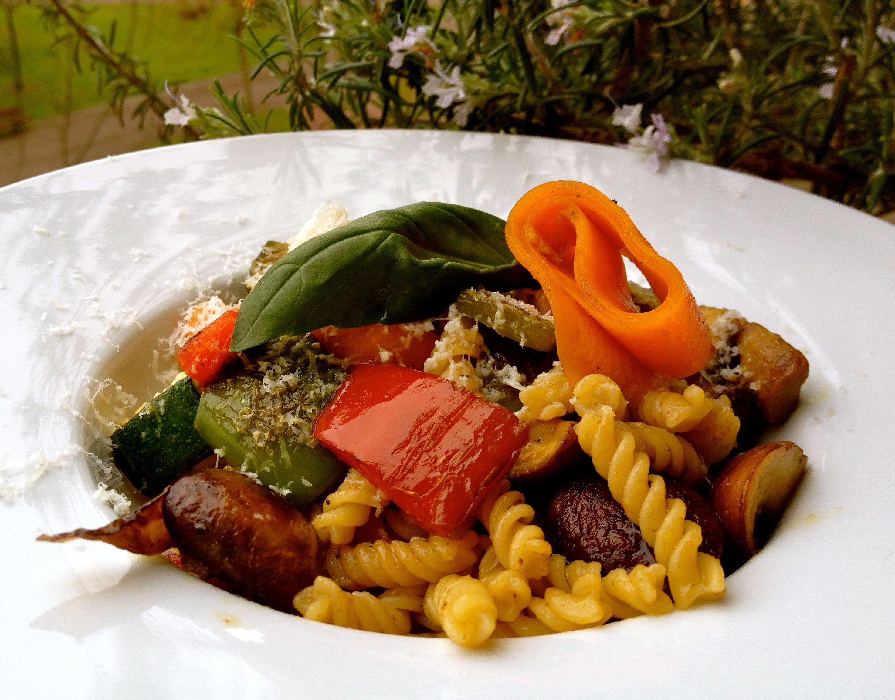 Espirales integrales con hortalizas, por Patxi Gimeno, cocinero deportivo