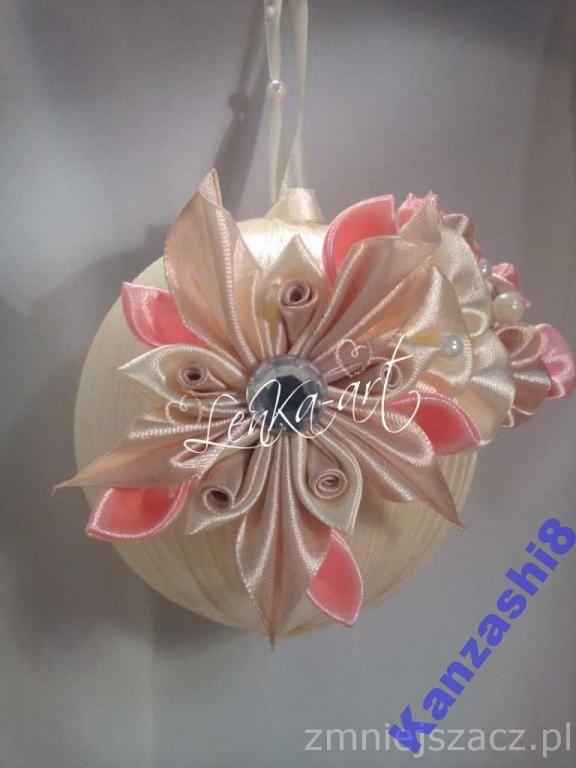 Bombka Swiateczna Choinkowa Kominkowa Kanzashi 4838719634 Oficjalne Archiwum Allegro Diy Quilted Christmas Ornaments Quilted Christmas Ornaments Diy Quilt