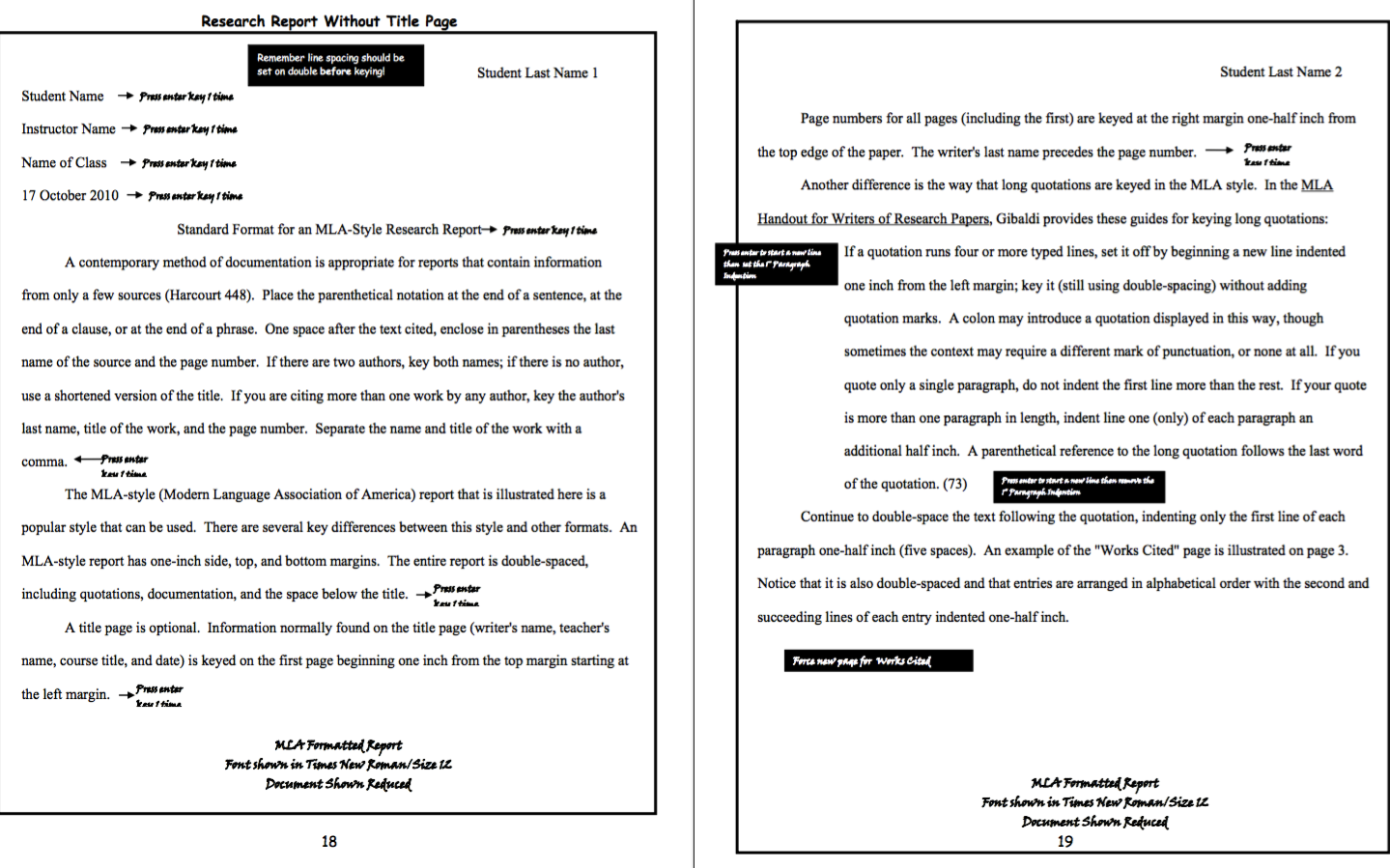 Mla Formatted Report Examples Check More At Https Resumesdesign Com Mla Formatted Report Examples