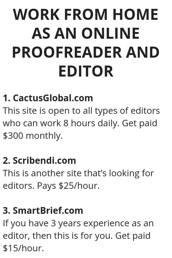 Work From Home As An Online Proofreader And Editor