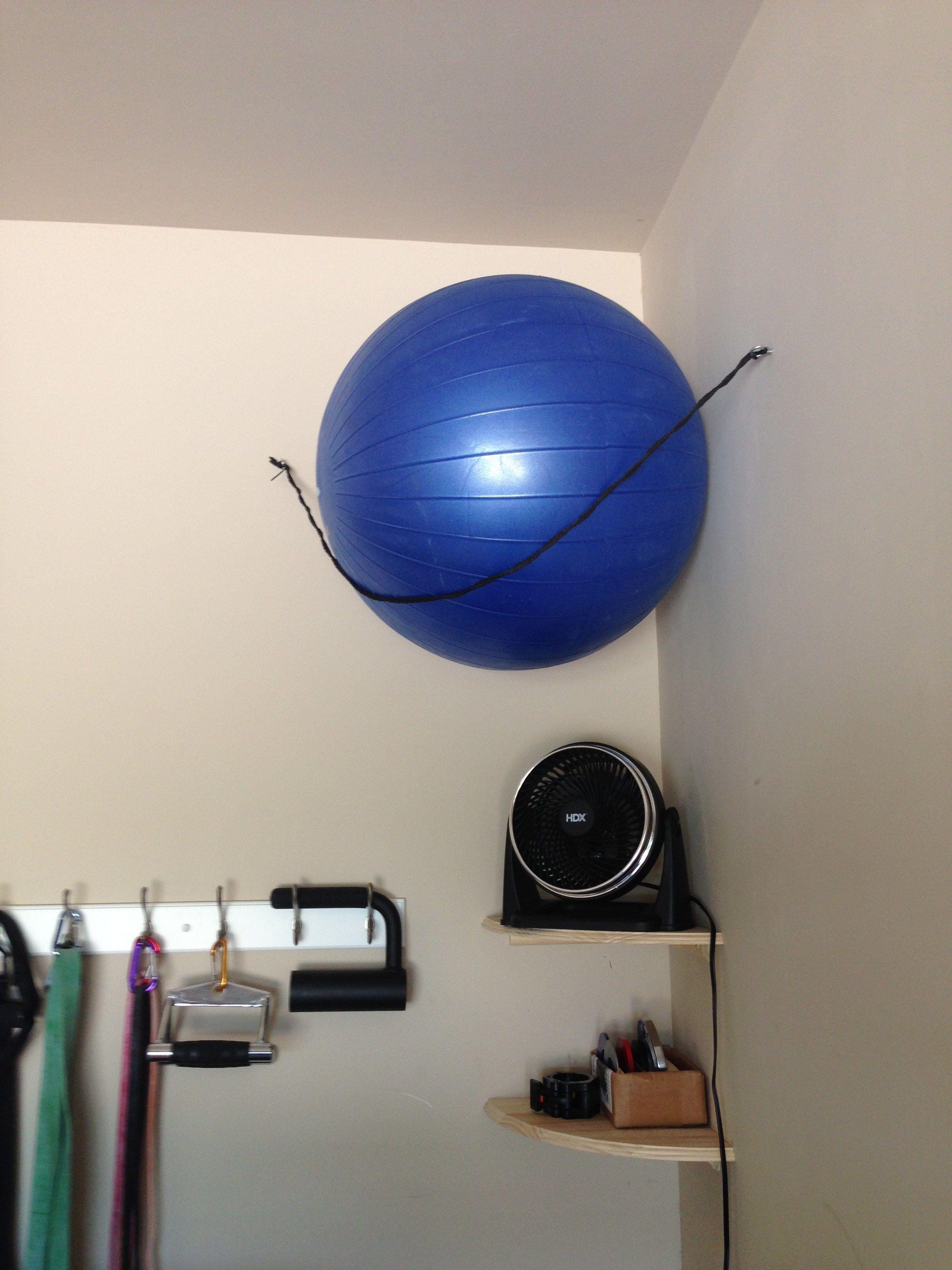 Diy exercise ball storage google search small work out room