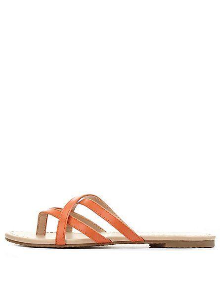 4f0bd86ecef8b6 City Classified Crisscross Strappy Thong Sandals  Charlotte Russe  sandals   CRshoecloset