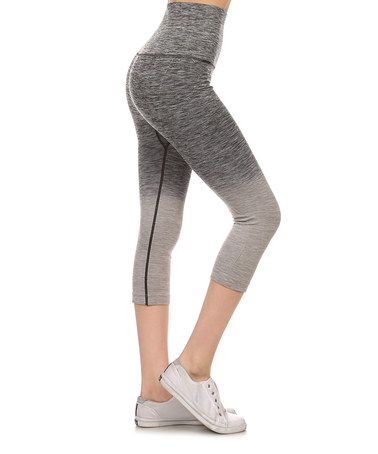 Love this Charcoal Ombré Athletic Capri Leggings on #zulily! #zulilyfinds