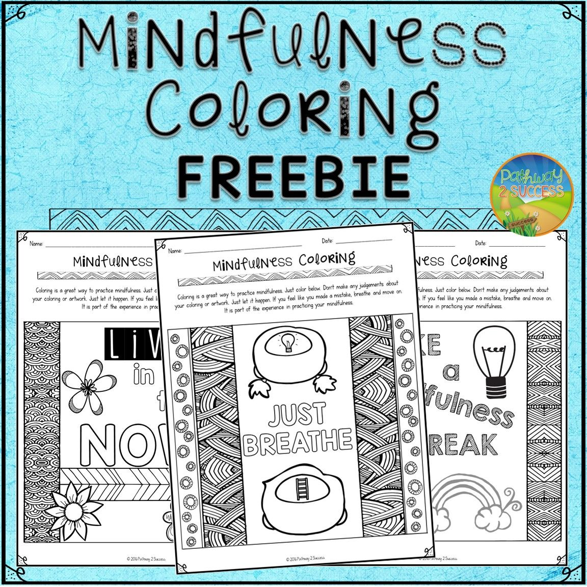 Free coloring pages for young adults - Use These Free Coloring Pages To Help Kids And Young Adults Practice Mindfulness To Help Promote