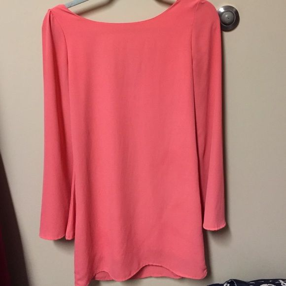 Flowy pink dress From a cute boutique in Charleston, their own brand. Size small. Will lower the price :) Dresses Long Sleeve