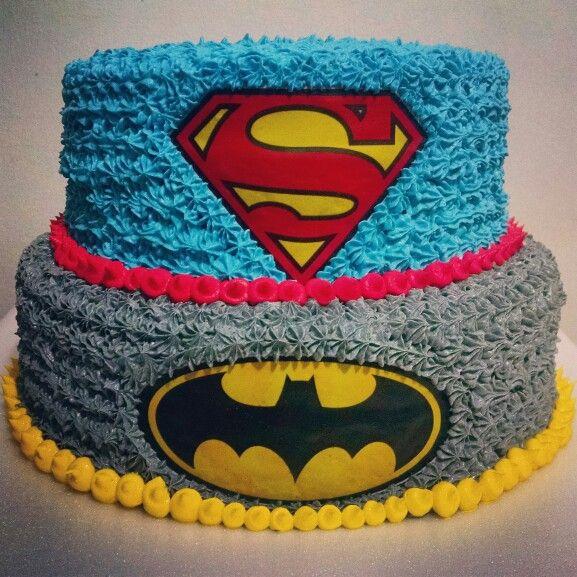 Torta Batman Vs Superman Bolos De Aniversario Dos Vingadores