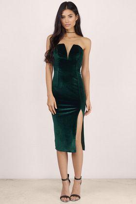 Strike A Pose Velvet Bodycon Dress  877b84212