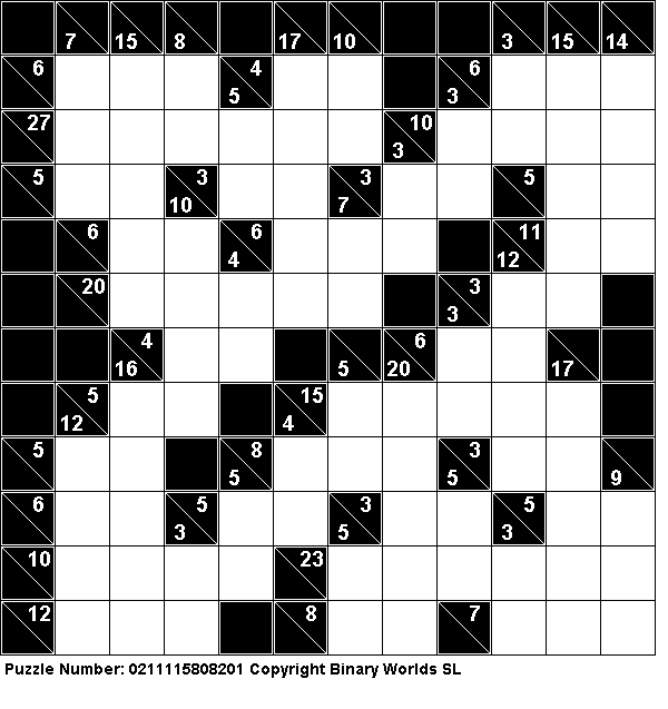 photograph relating to Kakuro Printable identified as Cost-free Kakuro (Cross Sums) puzzles online games Puzzle, Game titles