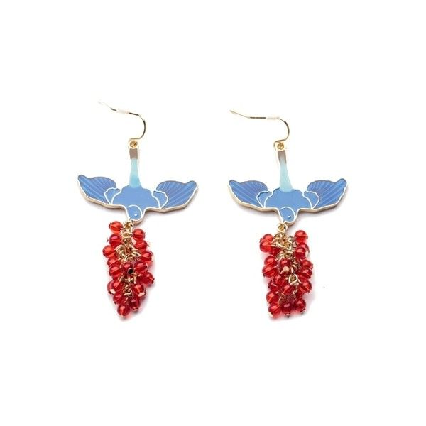 Pair of Beads Pendant Earrings (31 HKD) ❤ liked on Polyvore featuring jewelry, earrings, beaded earrings, pendant jewelry, beading earrings, beaded jewelry and beading jewelry
